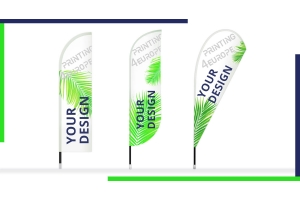 Feather flags - Your advertising flag in different shapes Drop, Straight or Bend