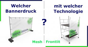 Bauzaunbanner und Gerüstbanner drucken - mit welcher Technologie werden Werbebanner gedruckt?