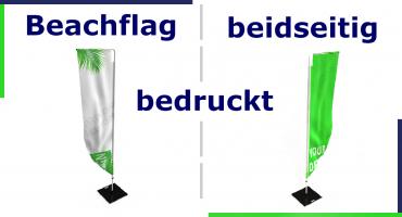 Beachflags beidseitig bedrucken