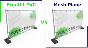 Frontlit PVC Plane oder Mesh-Gewebe – Was ist das beste Banner Material?