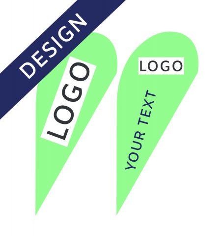 Projet Graphique pour Drapeau Publicitaire Classic Drop