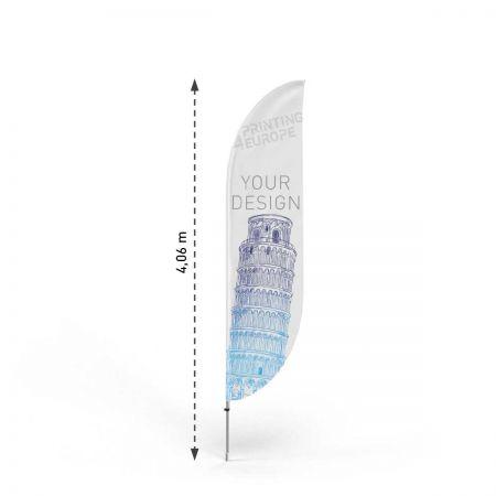 Werbeflaggen Classic Bend L mit Mast - Printing4Europe