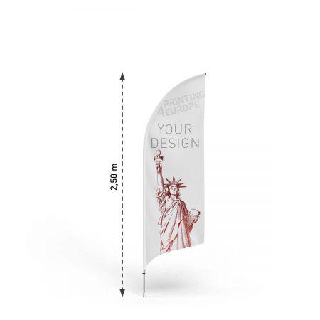 Werbefahne Bent S mit Aluminium Mast - Printing4Europe
