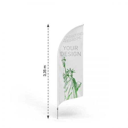 Strandfahnen  Bent M mit Aluminium Mast - Printing4Europe