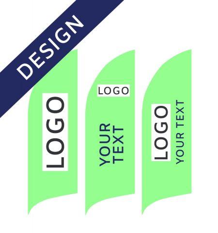 Projet Graphique pour Drapeau Publicitaire Aluminium Bent