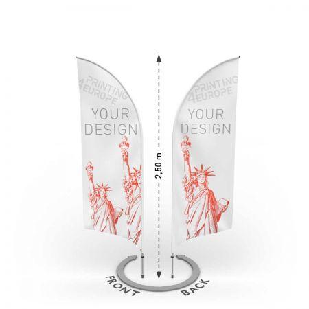 Werbefahne beidseitig bedruckt mit Aluminium Mast - Printing4Europe