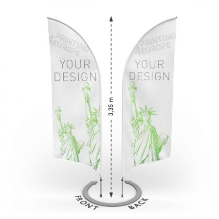 Beachflag  beidseitig bedruckt mit Aluminium Mast Bent M