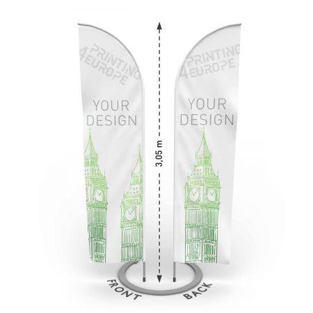 Flying Banner beidseitig drucken lassen - Printing4Europe